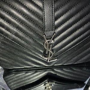 YSL black Chain handbag
